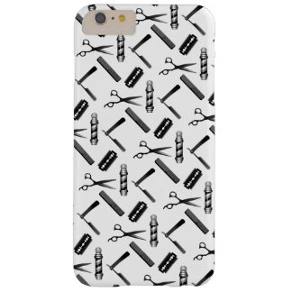 Black and White Barber's Pole Pattern Barely There iPhone 6 Plus Case