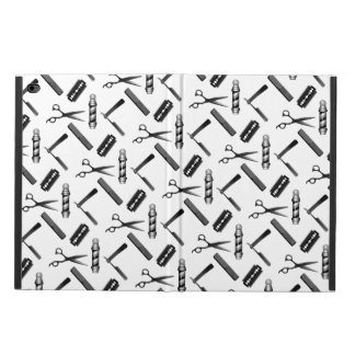 Black and White Barber's Pole Pattern Powis iPad Air 2 Case