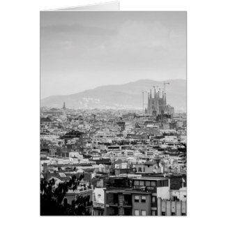 Black and White Barcelona Card
