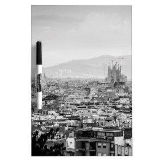 Black and White Barcelona Dry-Erase Whiteboard