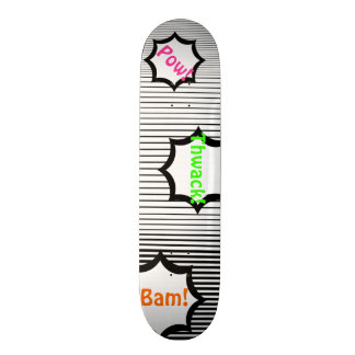 Black and White Barcode Pattern Customizable Deck Skateboards