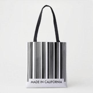 Black and White Barcode Stripes Creative Unique Tote Bag