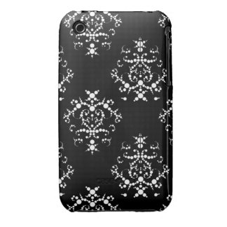 Black and White Baroque iPhone 3/3GS case iPhone 3 Case-Mate Case