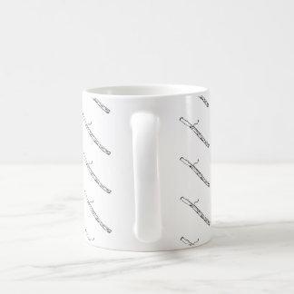Black and White Bassoon Mug