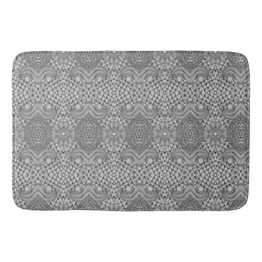 Black and White Bathroom Mat