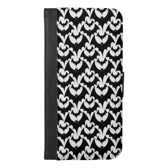 Black And White Bats Goth Halloween Pattern