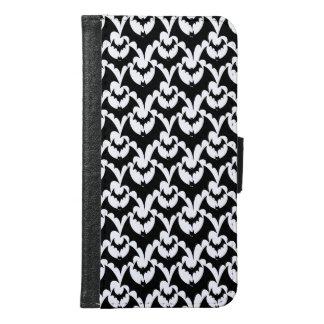 Black And White Bats Goth Halloween Pattern Design Samsung Galaxy S6 Wallet Case