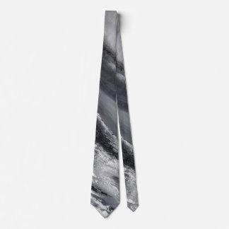 Black and White Beach Abstract Neck Tie