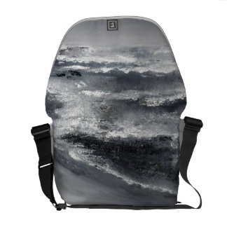 Black and White Beach Messenger Bag