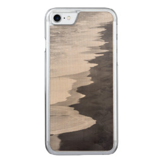 Black and white beach scenic carved iPhone 8/7 case