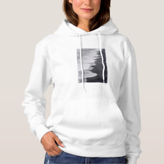 Black and white beach scenic hoodie