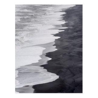 Black and white beach scenic postcard