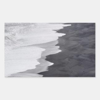 Black and white beach scenic sticker