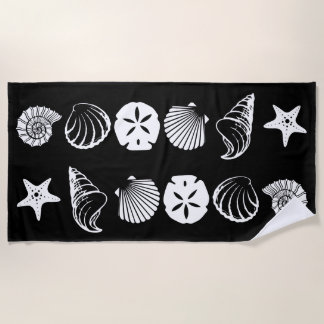 Black and White Beach Towel Designs