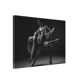 Black and White Beautiful Ballet Couple Wall Art
