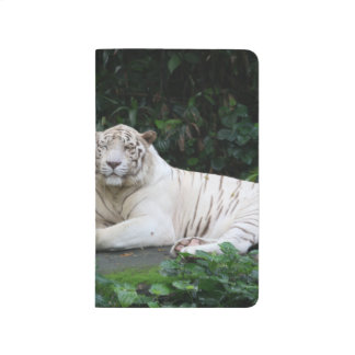 Black and White Bengal Tiger relaxed and smiling Journal