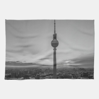 Black and White Berlin at Winter Kitchen Towels
