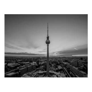 Black and White Berlin at Winter Postcard