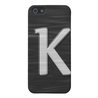 """Black and white beveled """"K"""" Speck Case Case For The iPhone 5"""