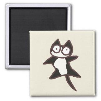 Black and White Bicolor Cat Magnet