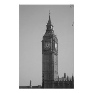 Black and White Big Ben Stationery