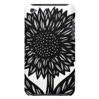 Black and White Big Flower iPod Touch Case-Mate Case