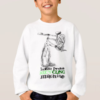 Black and White Bike with Green Recycle Text Sweatshirt
