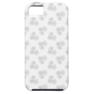 Black and white blossom iPhone 5 cases