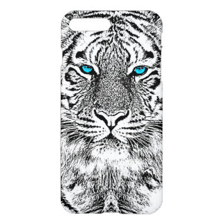 Black And White Blue Eyes Tiger Graphic iPhone 7 Plus Case