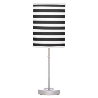 Black and White Bold Stripe Lamp