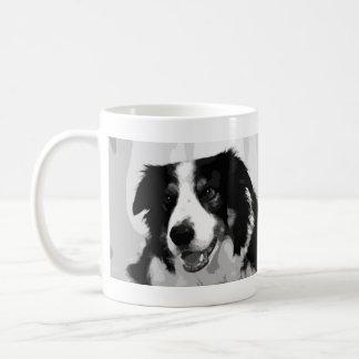 Black and White Border Collie Dog Gift Mug