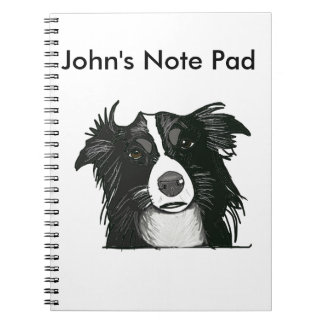 Black and White Border Collie Notebook