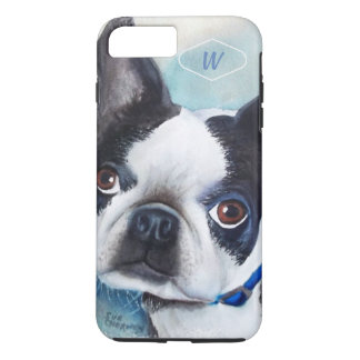 BLACK AND WHITE BOSTON TERRIER iPhone 8 PLUS/7 PLUS CASE
