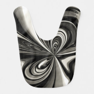 Black and White Bow Abstract Bibs