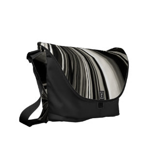 Black and White Bow Abstract Commuter Bags
