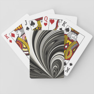 Black and White Bow Abstract Poker Deck