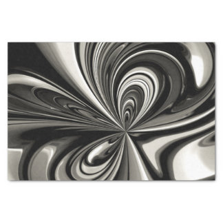 Black and White Bow Abstract Tissue Paper