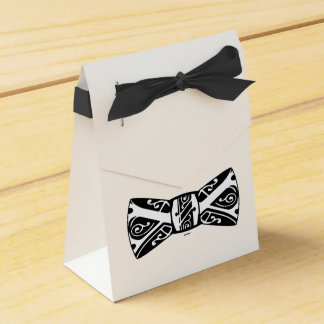 Black and White Bow Tie Favor Box