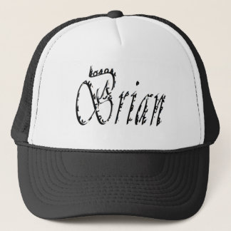 Black And White Brian Name Logo, Trucker Hat