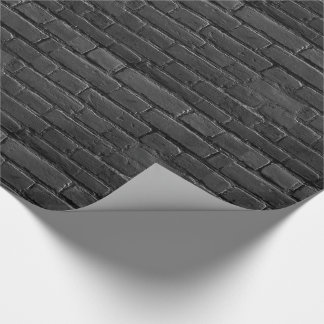 Black and White Brick Gift Wrap