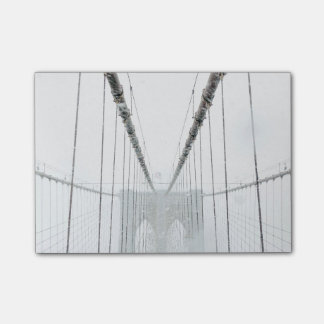 Black and White Brooklyn Brige Post-it Notes