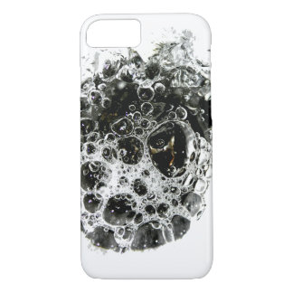 Black And White Bubbles iPhone 7 Case
