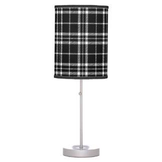 Black and White Buffalo Check Lumberjack Plaid Table Lamp