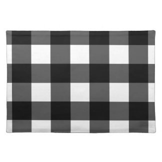 Black and White Buffalo Check Placemats