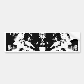 black and white bumper sticker