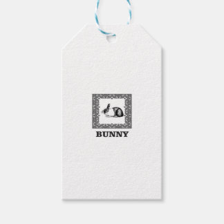 black and white bunny gift tags