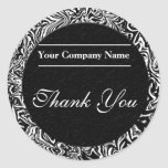 Black and White Business Thank You Stickers
