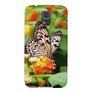 Black and white butterfly in spring garden print galaxy s5 case