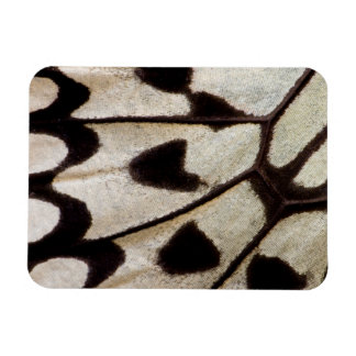 Black and white butterfly wing rectangular photo magnet