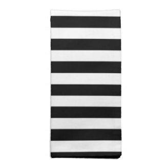 Black and White Cabana Stripe Cloth Napkins